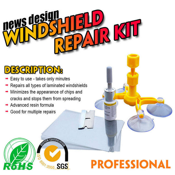 Car Crack Windscreen Repair Kit DIY Wind Screen Chip Windshield Glass