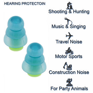 4Pcs Noise Cancelling Earplugs Silicone Hearing Protect Earplug for Sleeping