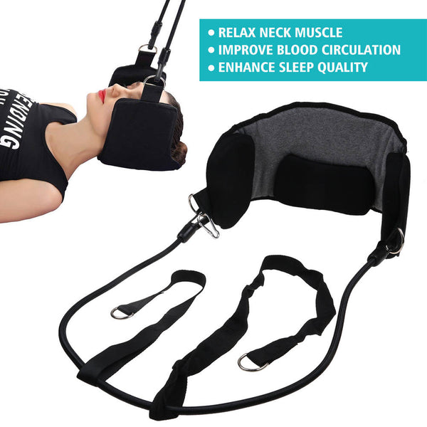 Neck Traction Massager Hammock For Head Pain Relief Relaxation Blood