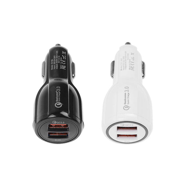 Quick Charge 3.0 Car Charger 2 Ports USB Qualcomm QC Fast Dual Adapter