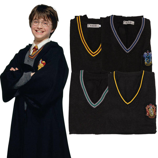Harry Potter V-Neck Sweater Cosplay Costume Vest Kintted Waistcoat Warm