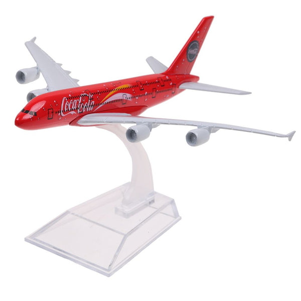 15cm Airbus A380 Coca Cola Metal Plane Model Aircraft Toys Special Gift