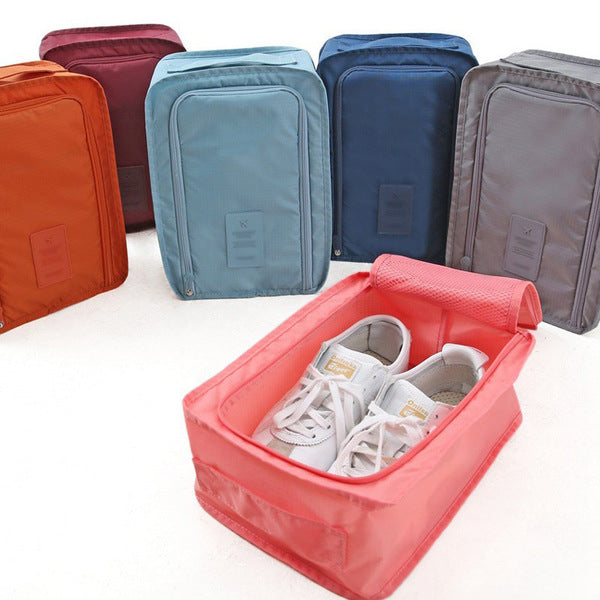 Nylon Double Layer Portable Organizer Bags Shoe Sorting Pouch