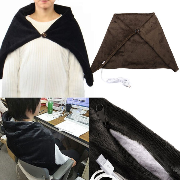 Soft Heated Shawl Winter Electric Warming Neck Shoulder Heating Blanket Pad