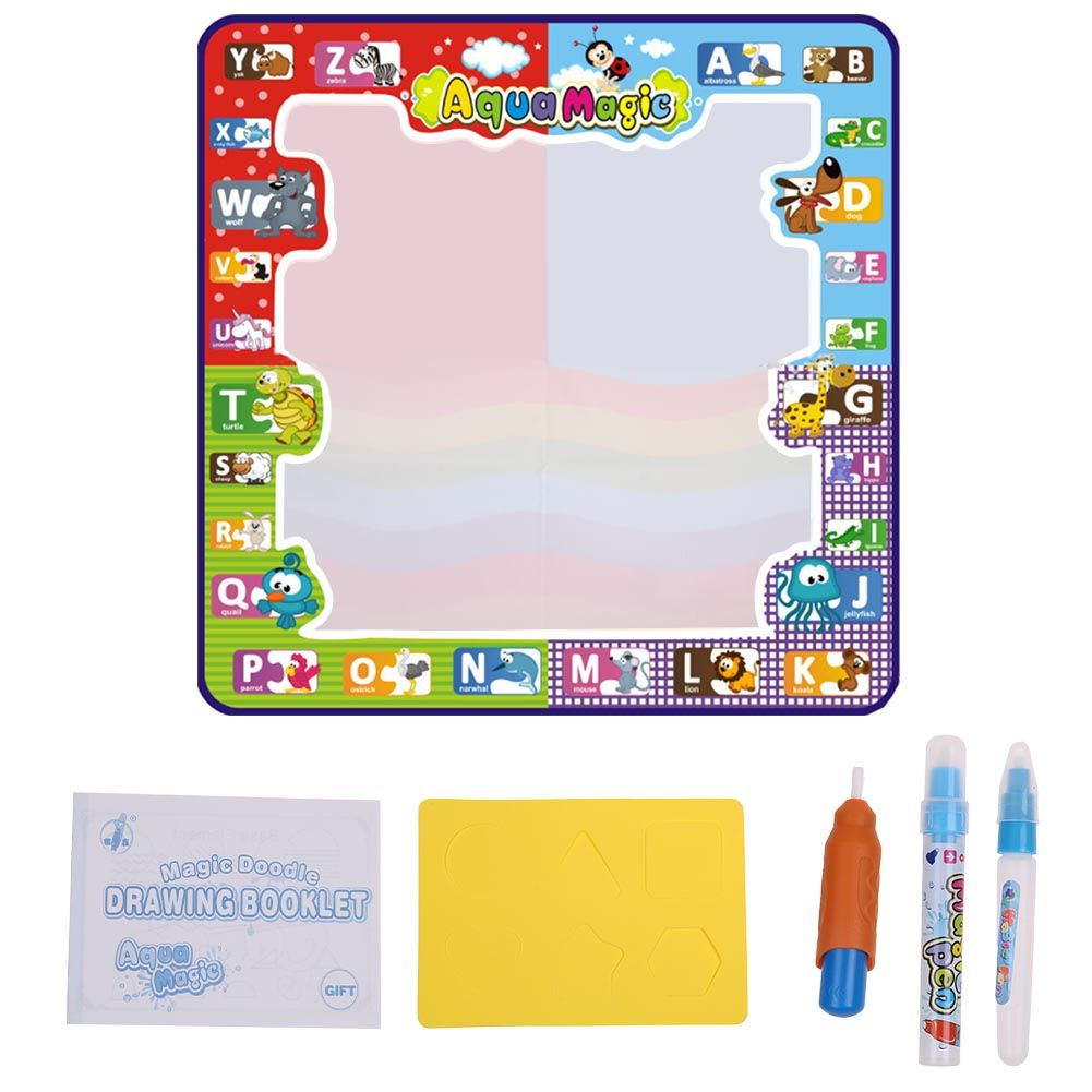 Aqua Magic Doodle Mat Large Kids Water Drawing Painting Writing Pad Board