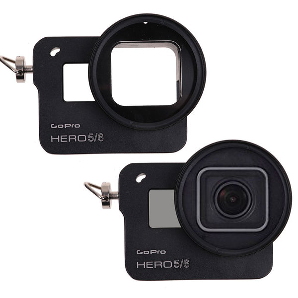 BlackAluminum Alloy Protective Case Frame Skeleton Housing for GoPro Hero6 5