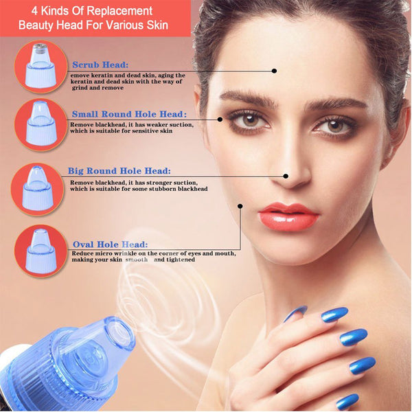 Beauty Face Acne Remove Blackhead Instrument Electric Suction Pore CleanSkin