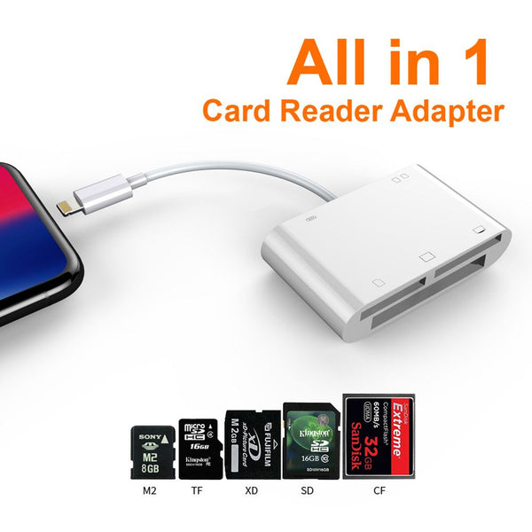 All in 1 Micro SD TF Memory Card Reader Adapter Camera Connecter For Iphone