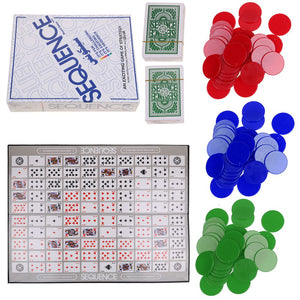 SEQUENCE BOARD GAME Family Party Board Game Cards Against Humanity Fun Game