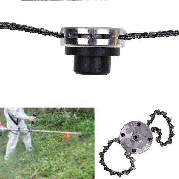 65MnTrimmer Head Coil Chain Brush Cutter Garden Grass Trimmer Fit Lawn Mower