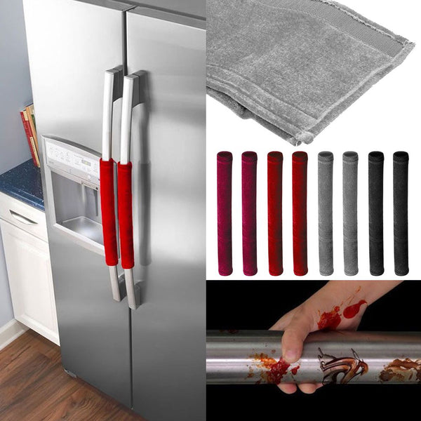 2 PCS Kitchen Appliance Handle Cover Decor Smudges Refrigerator door gloves
