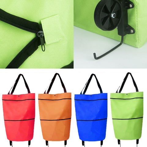 Folding Shopping Bags Trolley Grocery Shopper Lightweight Foldable on wheels