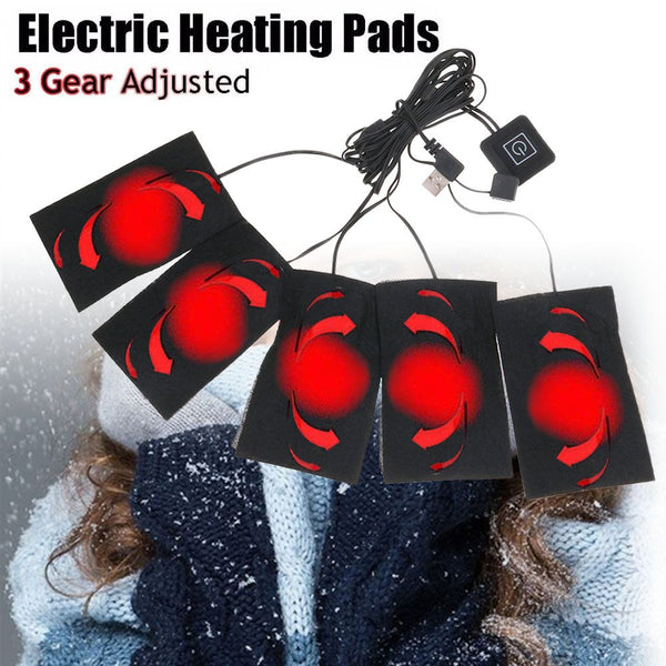 Electric USB 65 ℃ Heated Pads Gear Adjusted Heating Jacket Thermal Winter