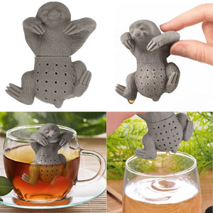 Sloth Tea Infuser Silicone Leaf Strainer Herbal Spice Filter Diffuser