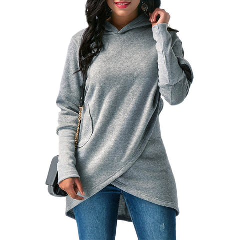 Autumn Winter Women's Long Sleeve Hoodies Blouse