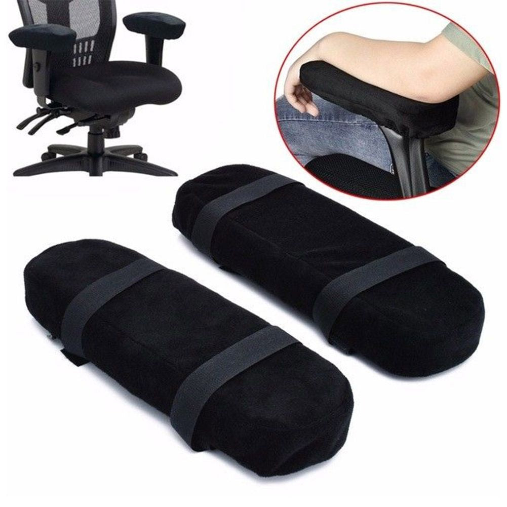 2Pcs Memory Foam Chair Armrest Pad Office Chair Arm Rest Cover For Elbows