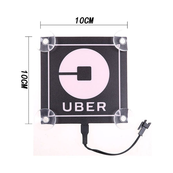 Blue LED Logo For UBER Light Car Sticker Sign TAXI Decal Bright Glowing