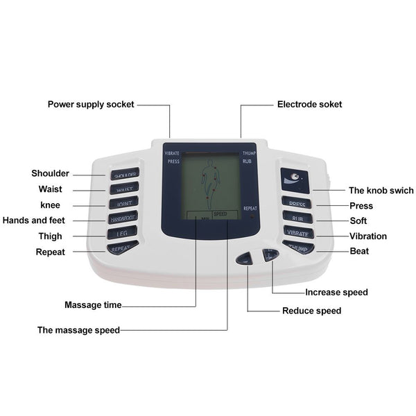 Electrical Muscle Relax Stimulator Massager Tens Acupuncture Therapy