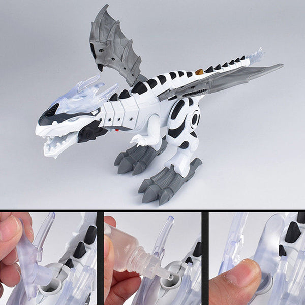 Funny Walking Dragon Toy Fire Breathing Water Spray Dinosaur Christmas Gift