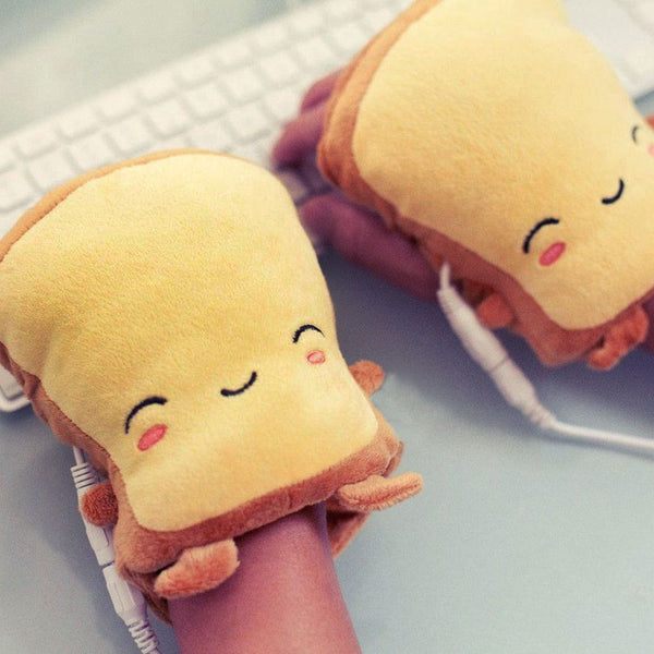 Toast USB Hand-Warmers USB Heating Gloves Half Wearable Fingerless Xmas