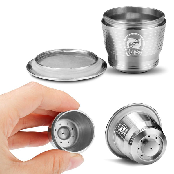 Stainless Steel Refillable Reusable Coffee Capsule Pod For Nespresso Machine