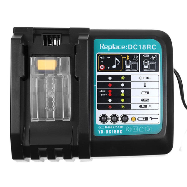 Makita DC18RC Rapid Battery Charger Li-Ion Battery Fast Charging Power Tool