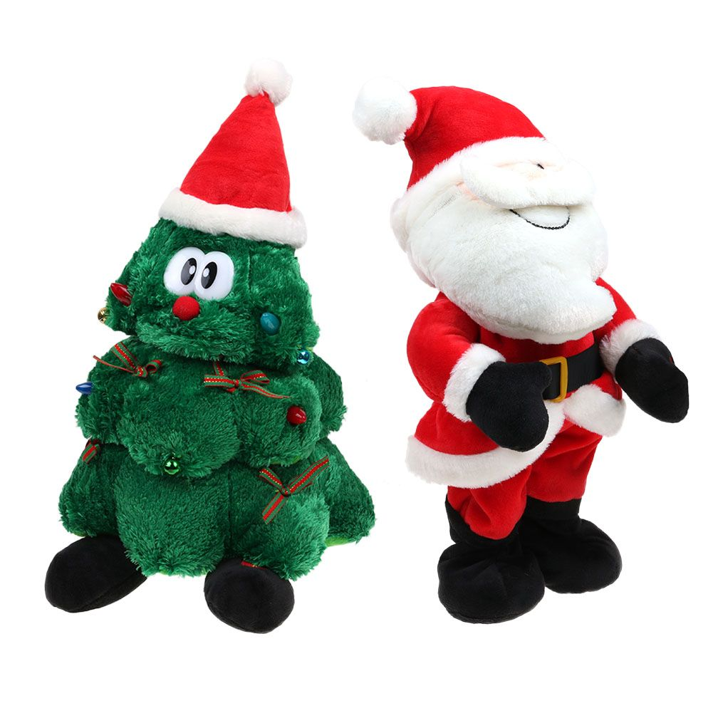 ff92d347959d9 ... Plush Dancing Singing Christmas Light Up Toy Animated Christmas  Decorations ...