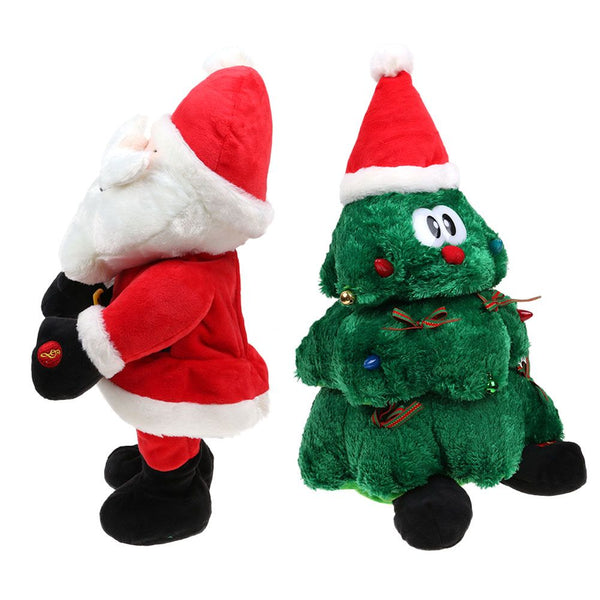 Plush Dancing Singing Christmas Light Up Toy Animated Christmas Decorations