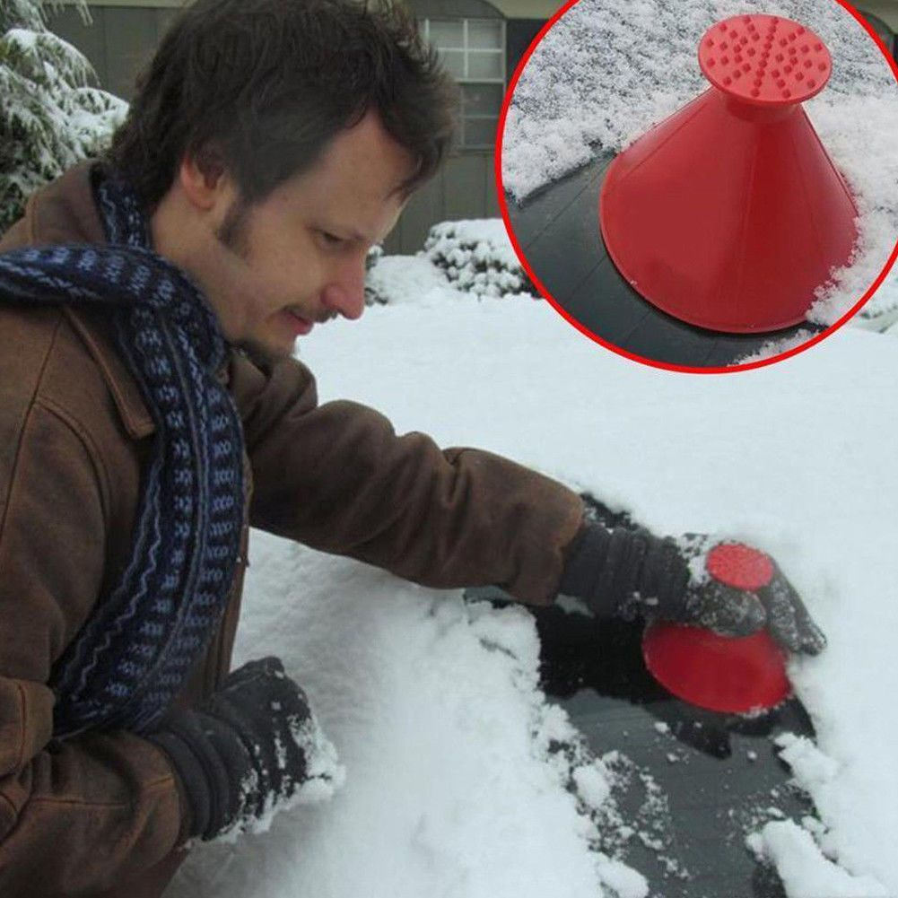 Magic Cone-Shaped Windshield Ice Scraper Snow Shovel Tool