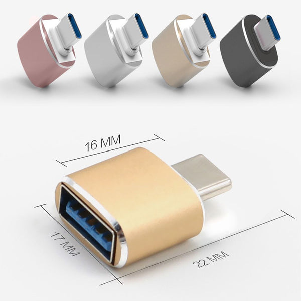 Mini USB-C Type C Male To USB 3.0 Female Converter OTG Data Sync Adapter