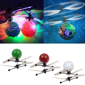 Electric RC Flying Ball Infrared Induction Aircraft LED Flash Light Kids Toy