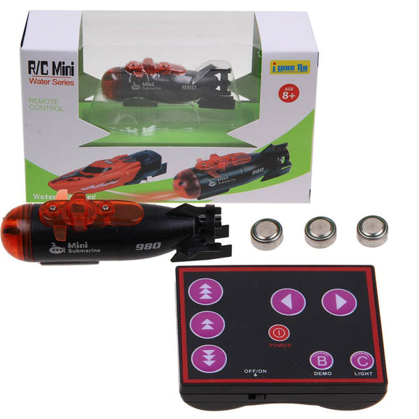 Micro Radio Remote Control RC Submarine Ship Boat With LED Light Toy Gift