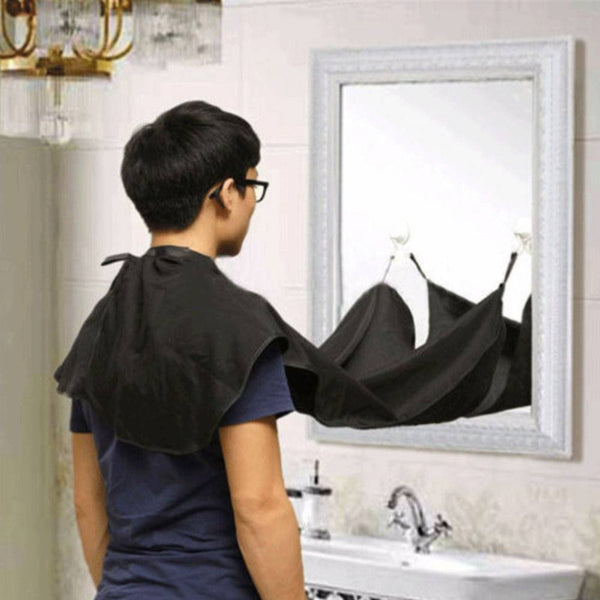 Beard Catcher Cape Apron Shaving Groom Whiskers Bib Facial Hair Trimmings