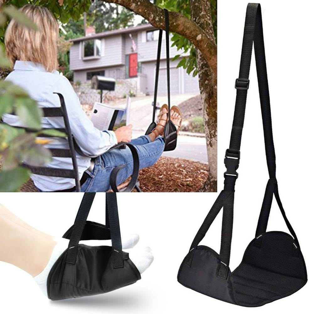 Foot Rest Portable Travel Hammock Carry Flight Leg Pillow Pad Airplane