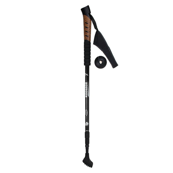 3-section Adjustable Aluminum Alloy Folding AntiShock Trekking Hiking Walking Stick 65cm-135cm