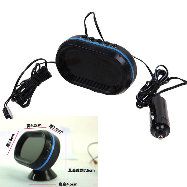 Car Auto Vehicle LCD Monitor Thermometer Clock Voltage 12V-24V Night Light