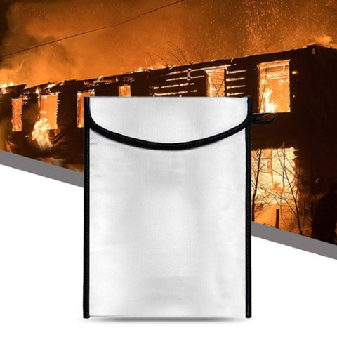 Fireproof Safe Bag Fire Water Resistant Pouch Cash Money Documents