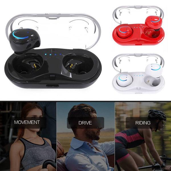 Mini Bluetooth TWS Earbuds Best Noise Cancelling Wireless Headphones Gym