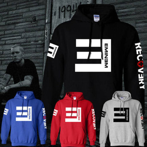 Mens Womens Eminem Hip Hop Sweater Fleece Hoodie Hoody Jacket Sweatshirt