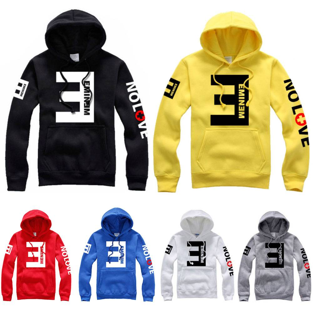 ... Mens Womens Eminem Hip Hop Sweater Fleece Hoodie Hoody Jacket Sweatshirt  ... e6b49320db