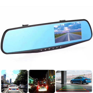 1080P Wide Angle Len 4.3'' Auto DVR Mirror Dash Cam Driving Recorder Camera