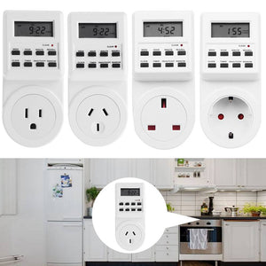 Electronic Digital Mains Plug-in Timer Socket LCD Display  7 Days
