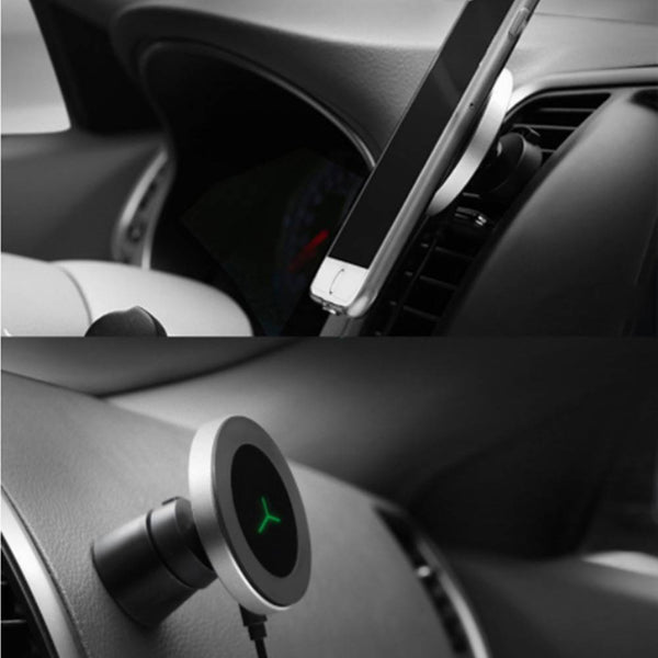 Magnetic Wireless Car Charger W5, Air Vent and Dashboard Mount Holder