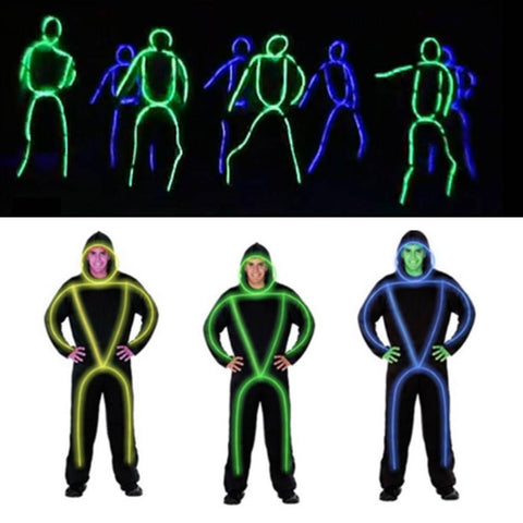 10 Colors Light Dance Ballroom Rechargeable Suit Luminous LED Robot Clothing