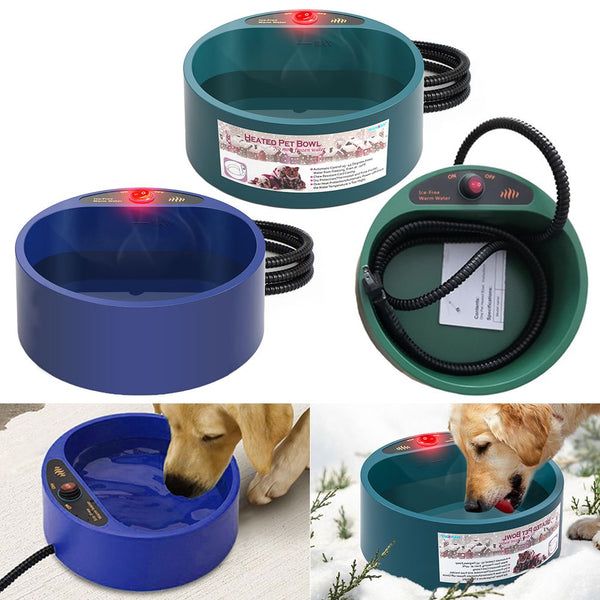 35W 2000ml Pet Electric Heated Drinking Bowl Dog Heated Water Dish Winter