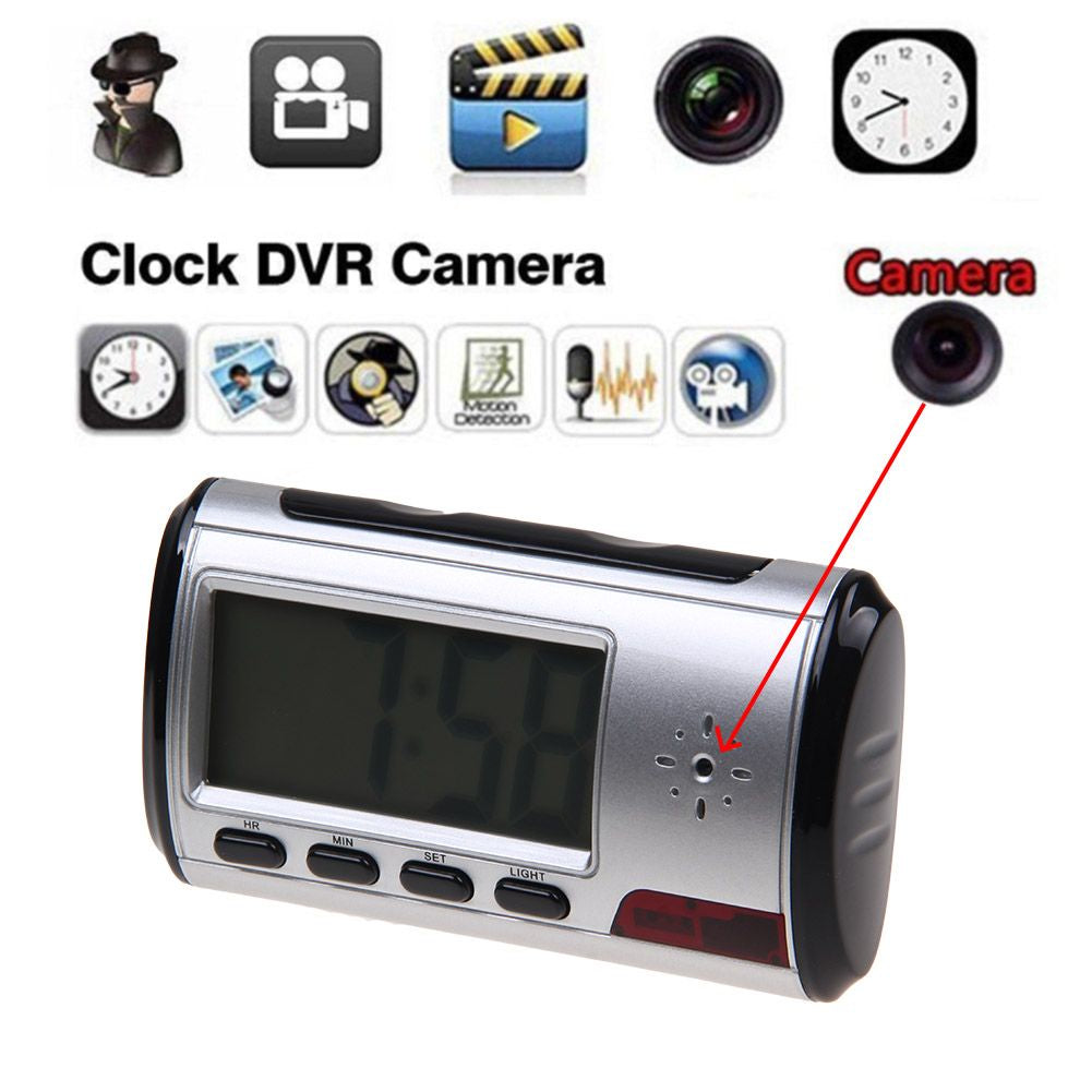 Spy Camera Alarm Clock Micro Hidden Nanny Cam Motion Detection DV DVR Video