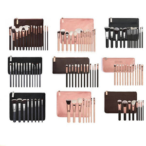 Professional 8/12/15 Piece Make Up Brush Set and Cosmetic Brushes Case