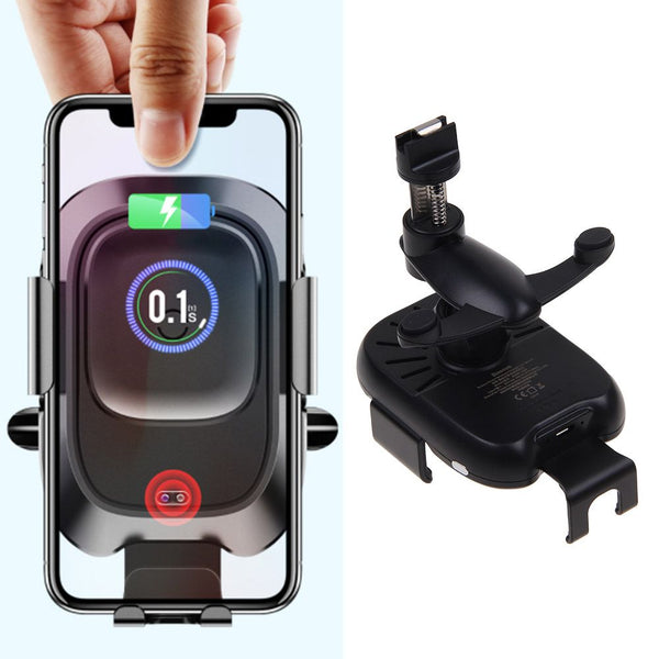 Baseus QI Wireless Charger Infrared Auto Clamp Car Mount Holder