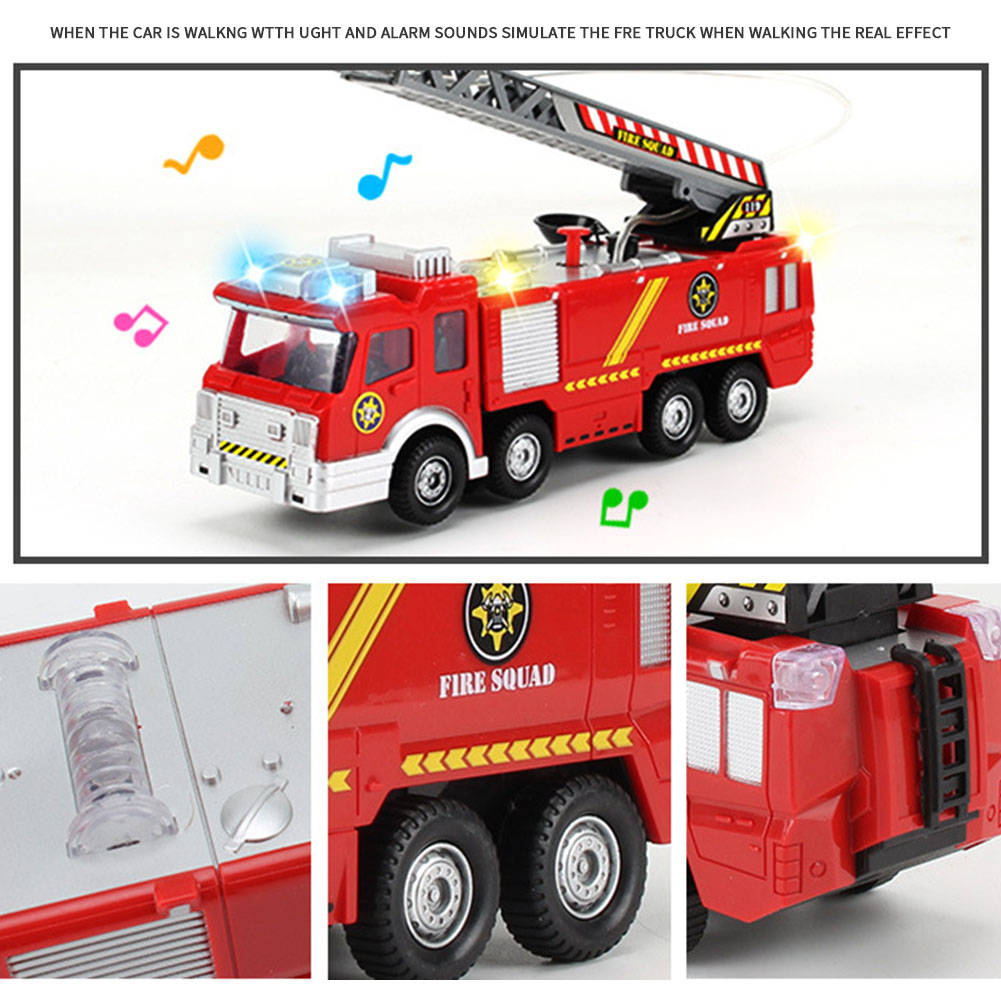 Fire Truck Engine Toy Red With Water Cannon Lights Sound