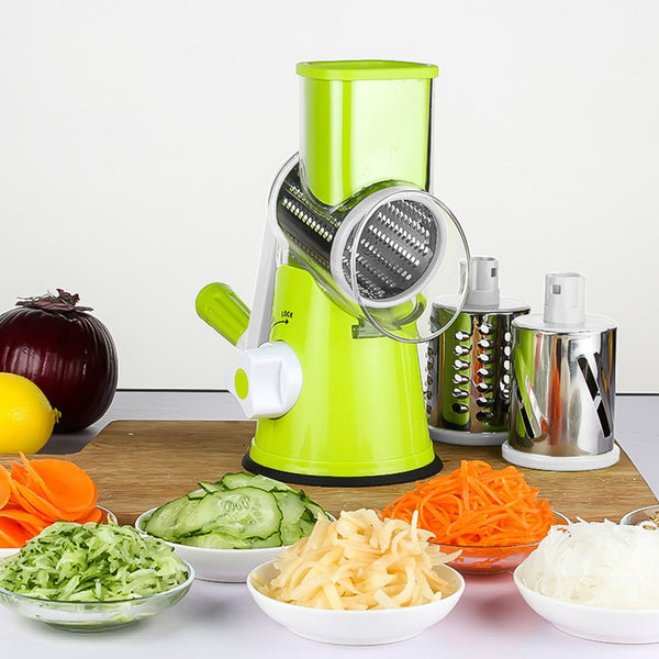 Round Mandoline Slicer Vegetable Cutter Potato Carrot Slicer Cheese Grater